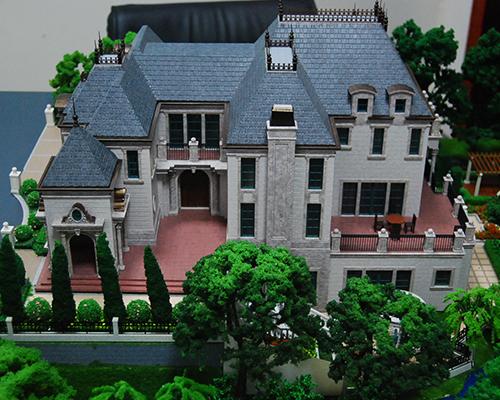 中海茶亭别墅建筑模型