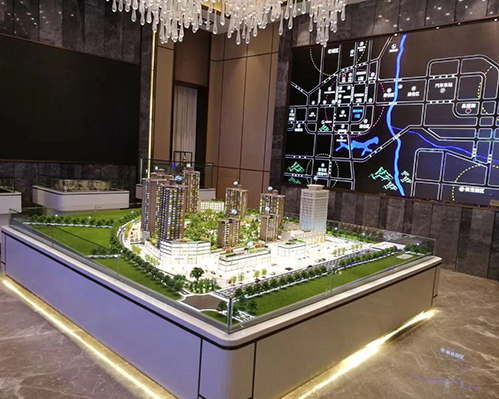 温泉小区模型制作