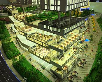 一次性升降商业建筑模型