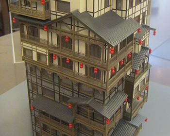 旋转古建筑模型制作