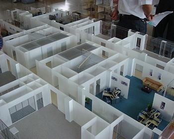 办公户型模型制作